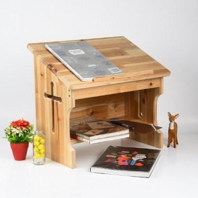에이스독서대 원목 기도책상 십자가 낮은책상