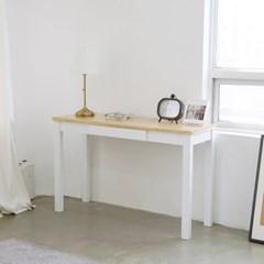 [리앳홈] 비올라 북유럽 원목 서랍형 슬림 콘솔 책상 1200 화이트