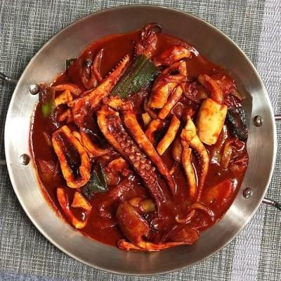 양지팔당닭발 매운 오징어 팔당 불오징어 볶음 550g×2팩