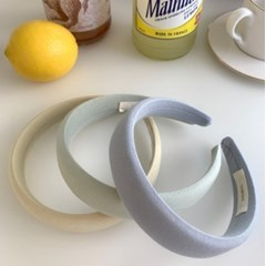 [made] 3cm 마카롱 코튼 헤어밴드 10colors / 머리띠 국내자체제작