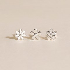 3종 실버925 미니 데일리 꽃 릴리 데이지 은 피어싱 귀걸이 세트