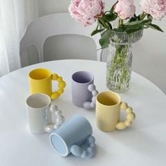 귀여운 탕후루 동글 손잡이 280ml 커피 머그컵
