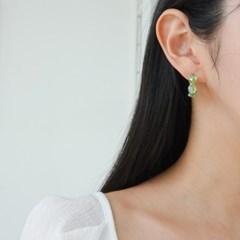 링 그린 화이트 기본 심플 패션 E1248 귀걸이