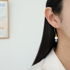 링 볼드 비즈 소라 블랙 데일리 패션 E1247 귀걸이