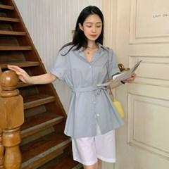 클래시 벨트라인롱셔츠 (2color)