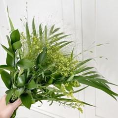 [플플 꽃다발 선물 꽃배달 ]플랜테리어 초록 소재 식물 보태니컬 믹
