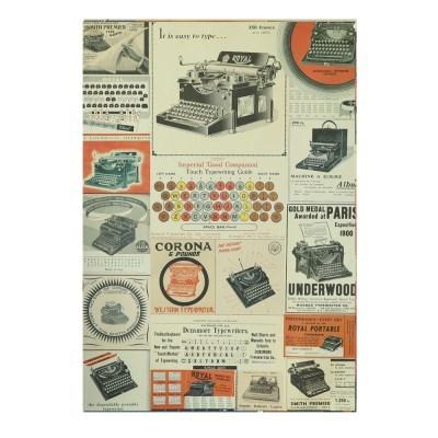 카발리니 일러스트 빈티지포스터 Typewriter