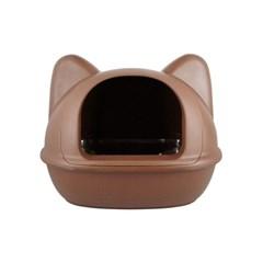 [룸펫] 디자인을 더 생각한 아이캣 고양이모양 화장실 - 브라운 M