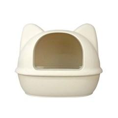 [룸펫] 디자인을 더 생각한 아이캣 고양이모양 화장실 - 아이보리 L