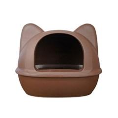 [룸펫] 디자인을 더 생각한 아이캣 고양이모양 화장실 - 브라운 L