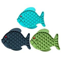 반려견 급체방지 슬로우 물고기접시 식습관개선 밥그릇