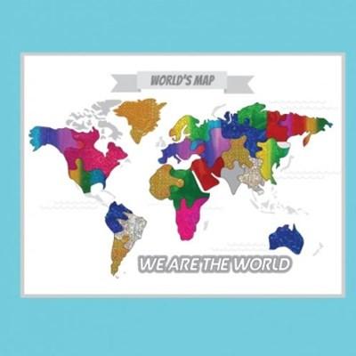 [두두엠]세계지도 퍼즐 포일아트