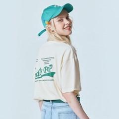 Teddy Pop Wave Logo Cream Beige T-shirt