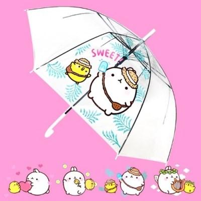 몰랑이 투명우산 안전한 자동 장우산