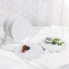 로모노소프 화이트엣지 플렛 접시 200mm세트 5P A2125