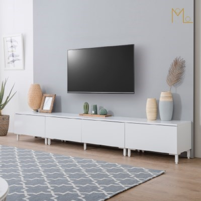 에디든 2400 낮은거실장 거실장 세트 TV다이 TV선반 거실TV장