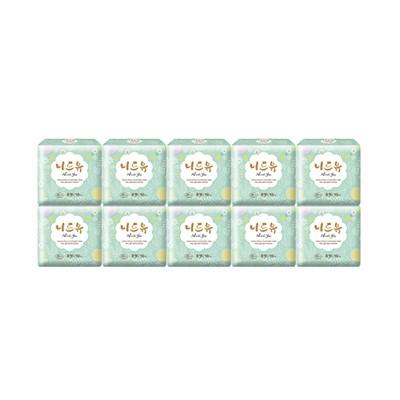 니드유 슈퍼울트라 중형 생리대 유해물질5無 (10개입x10팩)
