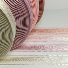 미니화환 조화 부케 포장용 다이아무늬 리본 1롤 45m