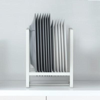 [리본제이] 리메이크 주방수납 그릇정리대 접시꽂이 L