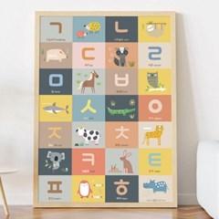 한글포스터 알파벳벽보 방수포스터 숫자포스터