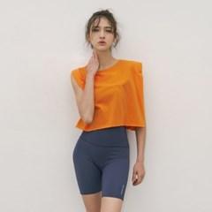 여성 요가복 DEVI-TS0031-오렌지 이중나시