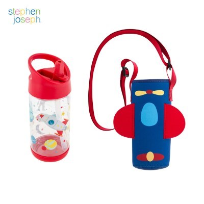 어린이집 선물 세트(물병가방+빨대물병) - 스페이스