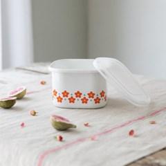 [모던하우스] L 레드 작은꽃마리 법랑 보관용기
