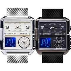 피닉스 남성시계 메탈시계 듀얼전자시계 SA-6023F