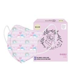 [아이다움] 국산 3겹 핑크고래 유아 어린이마스크 캐릭터마스크