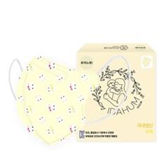 [아이다움] 국산 3겹 토끼노랑 유아 어린이마스크 캐릭터마스크