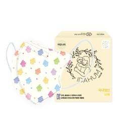 [아이다움] 국산 3겹 머핀나라 유아 어린이마스크 캐릭터마스크