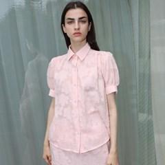 클라우드 셔링 핑크 블라우스_ Cloud Shirring PK BL