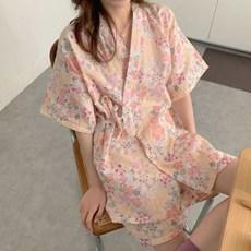 여름 거즈면 순면 도로시 유카타 잠옷