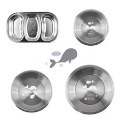 언더더씨 304 스텐 캐릭터 유아/아동식기 접시 나눔접시 찬기 모음