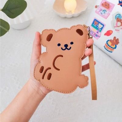 귀여운 심쿵 곰돌이 베어 카드지갑 파우치 (2type)