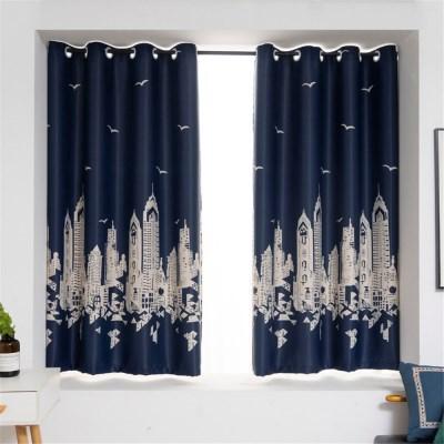 거실 안방 인테리어 디자인 프린트 아일렛 암막 커튼 J