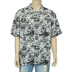 남성 남자 데일리 반팔 셔츠 반소매 여름 플라워 패턴
