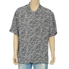 남성 남자 데일리 반팔 셔츠 반소매 여름 스크래치