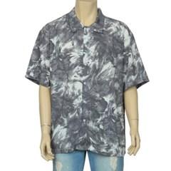 남성 남자 데일리 반팔 셔츠 반소매 여름 수채화 플라워