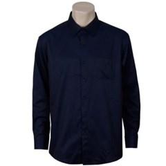 남성 남자 셔츠 남방 긴팔 레이블 셔츠 네이비