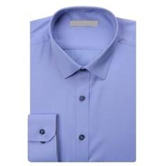 남성 남자 셔츠 남방 긴팔 블루 단추 슬림