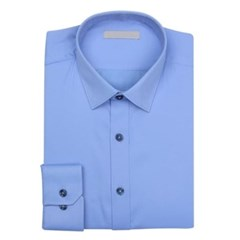 남성 남자 셔츠 남방 긴팔 슬림핏 블루 기본