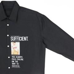 남성 남자 셔츠 남방 긴팔 멜빵