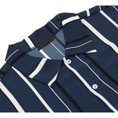 남성 남자 셔츠 남방 긴팔 화이트 포인트 라인