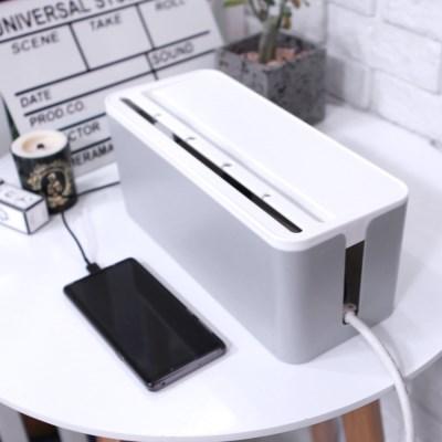 케이블 멀티탭 정리함 휴대폰 거치대
