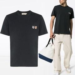 21FW 더블 폭스 패치 티셔츠 차콜 BU00103KJ0008 AN