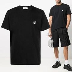 21FW 폭스 패치 반팔 티셔츠 블랙 GM00118KJ0008 BK