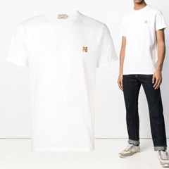 21FW 폭스 패치 티셔츠 화이트 AM00103KJ0008 WH