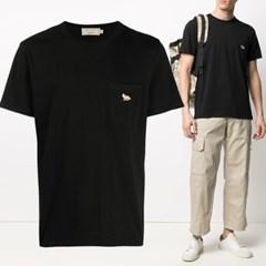 21FW 폭스 패치 포켓 티셔츠 블랙 GM00116KJ0008 BK