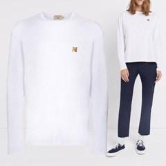 21FW 여성 폭스 롱슬리브 티셔츠 FU00163KJ0010 WH